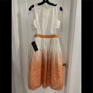 Brand New Bebe - Olivia Ombré Cutout Midi Dress